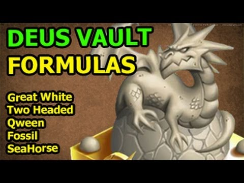 DEUS VAULT Dragon City Secret FORMULAS for Great White Two Headed Qween SeaHorse Fossil Dragon