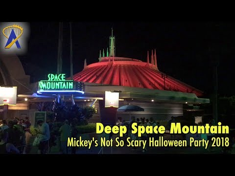 Deep Space Mountain Lights Out for Mickey's Not So Scary Halloween Party 2018
