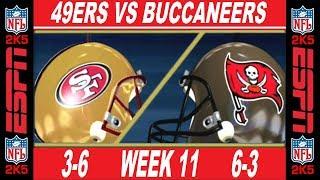 49ers vs Buccaneers Week 11 ESPN NFL 2K5