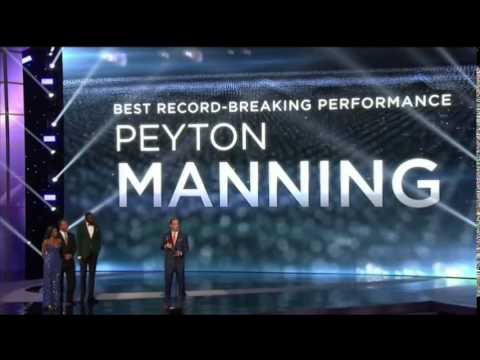 Peyton Manning Wins #ESPYs Best Record-Breaking Performance