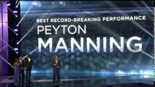 Peyton Manning Wins Best Record Breaking Performance - Espy Awards 2015