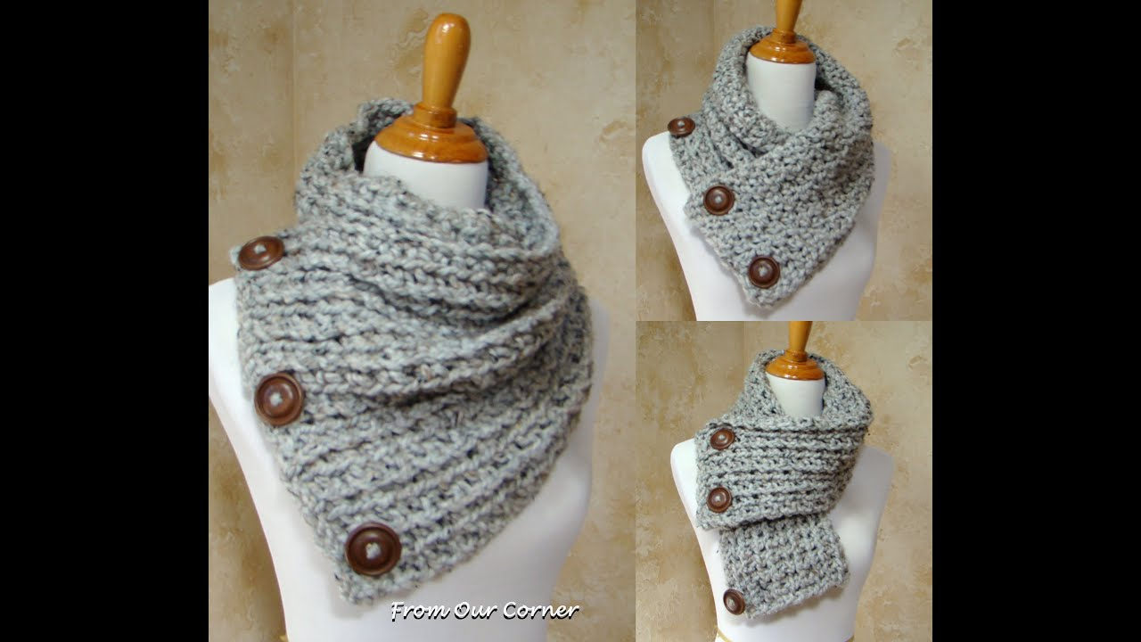 Free Crochet Pattern For Dallas Dream Scarf : Dallas Dream Scarf/3 Button Scarf Instructions - YouTube