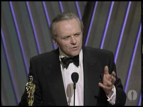 "Anthony Hopkins winning an Oscar® for ""The Silence of the Lambs"""
