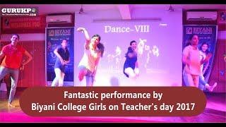 Fantastic performance by Biyani College Girls on Teacher's day 2017