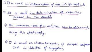 Application of UV Spectroscopy, Ultraviolet-Visible Spectroscopy Applications