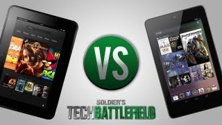 Google Nexus 7 Tablet vs Amazon Kindle Fire HD 7 Tablet - Soldier's Tech Battlefield