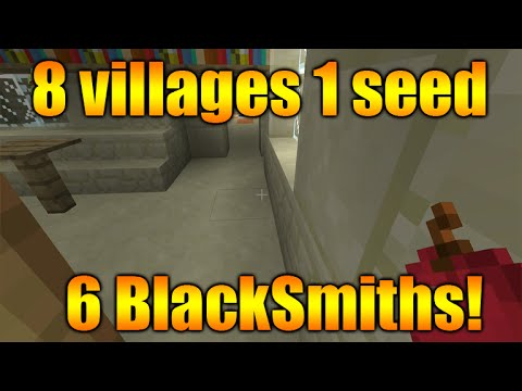 Minecraft Xbox 360 + PS3 TU20 Best Seed - 8 Villages, 6 Blacksmiths, 1 Temple, 2 Surface Spawners