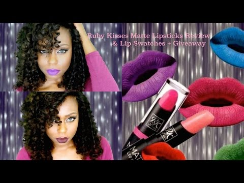 Ruby Kisses Matte Lipsticks Review & Lip swatches + Giveaway