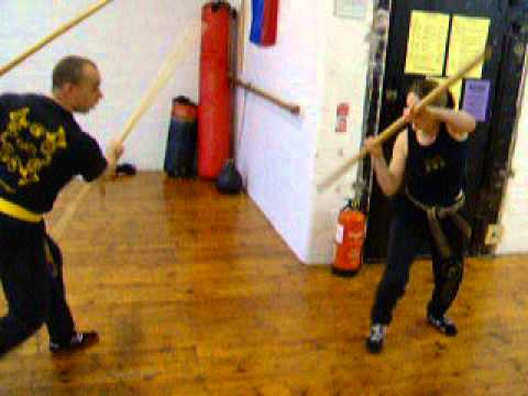 2x6ft Staffs Vs 1 Staff , Eskrima-Kali-Arnis ,FMA ,Kickfit Martial Arts Academy,Nottingham,UK Image 1