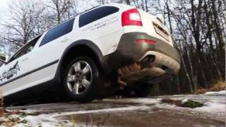 Skoda Octavia Scout at proving ground (off road)