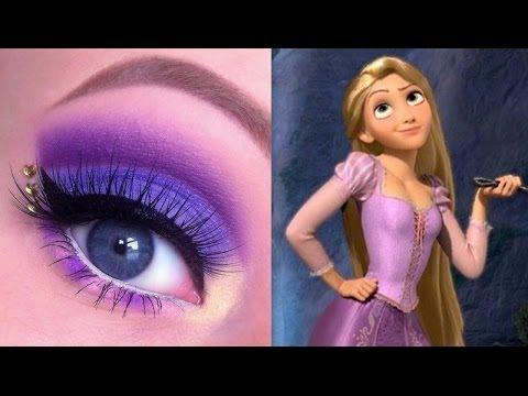 make up návod, líčenie návod, ako byť krásna, líčenie očí, očné tiene, dievčenské veci, princeznovský make up, disney princezná, na vlásku rapunzel
