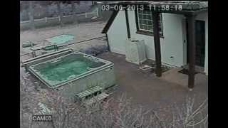 CCTV, Hot Tub Cover Blowing Off In Wind 20FPS