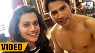 Download Varun Dhawan & Taapsee Pannu's LIVE VIDEO From 'Judwaa 2 Sets' | LehrenTV 3Gp Mp4