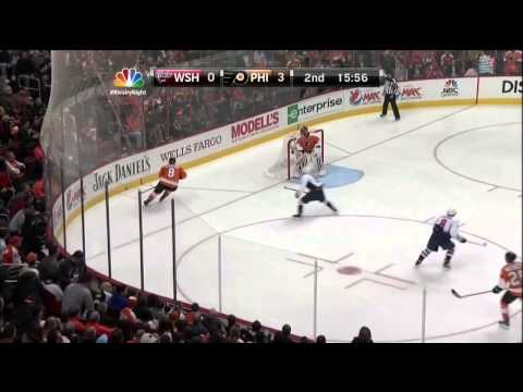 Simon Gagne goal 3-0 Feb 27 2013 Washington Capitals vs Philadelphia Flyers NHL Hockey