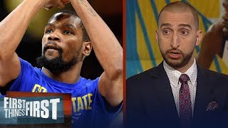 Nick and Cris on why Durant would leave the Warriors | NBA | FIRST THINGS FIRST