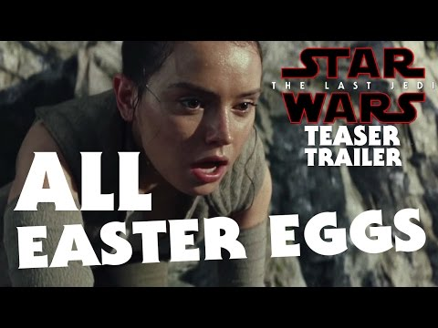 Star Wars The Last Jedi Teaser Trailer - ALL EASTER EGGS! - In-Depth Analysis