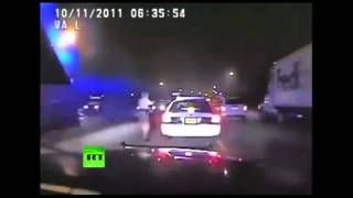 Trooper handcuffs off-duty cop after 120 mph chase  2/11/14  (Dirty Cops)