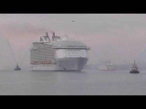 Harmony of the Seas early morning arrival in Southampton 17th May 2016