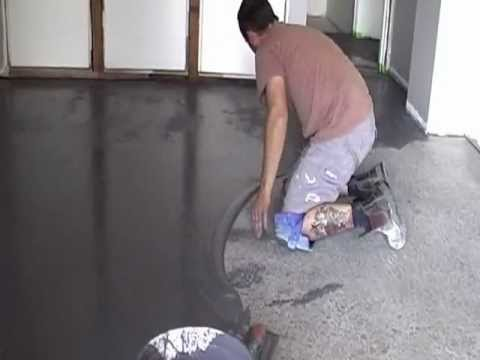 Ecoflor polished concrete floor coloured overlay youtube for How to clean polished floors