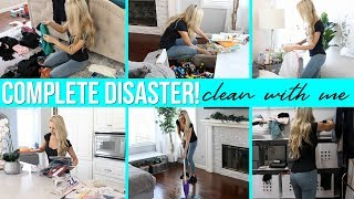 COMPLETE DISASTER!! All Day Clean With Me / Cleaning Motivation