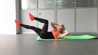 Упражнения для пресса от фитнес-тренера Светланы Сливной. Часть 1