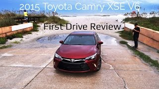 HD First Drive Review - 2015 Toyota Camry XSE V6 In Full-Throttle Maneuvers!