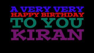 HAPPY BIRTHDAY KIRAN - SURPRISE