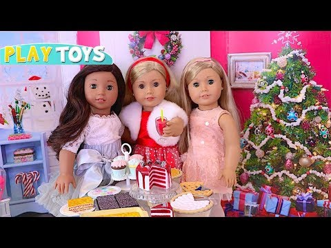 American Girl Doll Fashion Dress up & Pretend Play Food Toys for Baby Doll New Year Slumber Party!!
