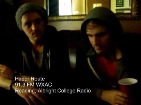 Gabby and Marie interview JT and Andy from Paper Route, with surprise guest Josh Farro from Paramore at The Electric Factory on October 17th. Listen to WXAC http://www.albright.edu/wxac...