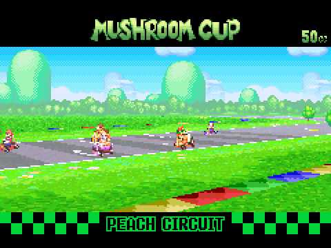 Mario Kart - Super Circuit - Mario Kart - Super Circuit (GBA) - Mushroom Cup GP - User video