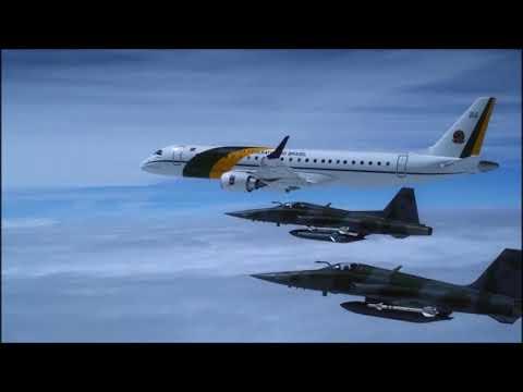 ESCOLTA PRESIDENCIAL COM CAÇAS F-5-HD