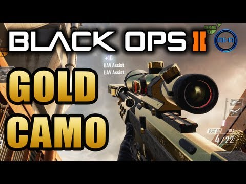 Black Ops 2 GOLD CAMO - How to get Gold Guns! - BO2 Multiplayer Sniping Gameplay