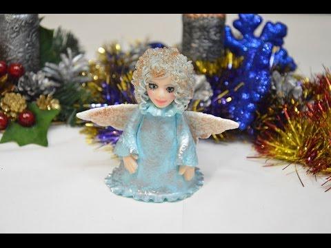 Видео как нарисовать рождественского ангела
