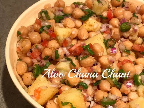 Aloo chana chaat | Delicious Chana Chaat | How to prepare chickpea salad | Aloo Channa Salad