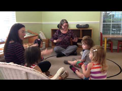 A Day in the Center Nest.  Toddler class at Center Montessori School