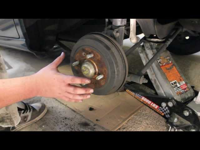 How to Replace Rear Brakes Hyundai - YouTube