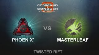C&C3: Kane's Wrath 1v1 - Phoenix (MoK) vs. Masterleaf (ST)