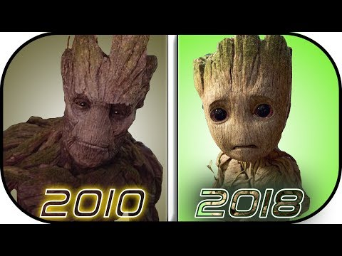 EVOLUTION of GROOT in Movies, Cartoons, TV (2010-2018) Groot history