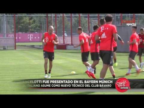 Carlo Ancelotti fue presentado como reemplazo de Guardiola en el Bayern Múnich