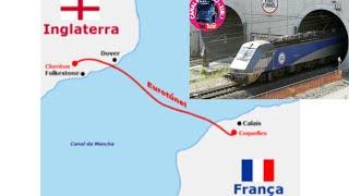 Eurotúnel por dentro.51 kms por baixo do mar.Vem comigo!canal da mancha.Video n°259