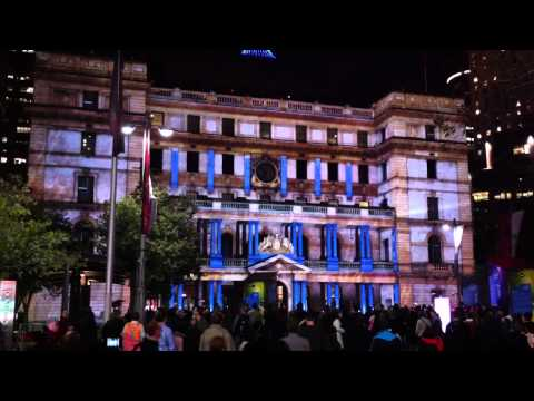 Amazing light show Customs house Sydney Vivid 2011 - 720p