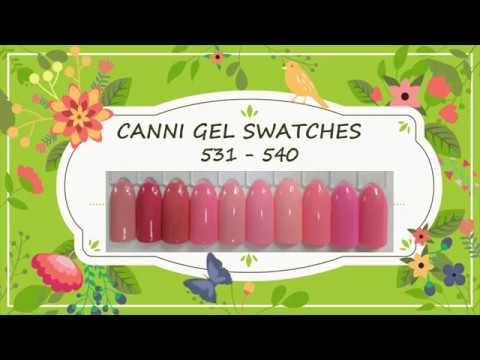 Canni Gel Paint Swatches 531 - 540