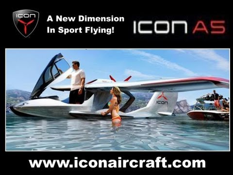 ICON A5, from ICON Aircraft, amphibious light sport aircraft.