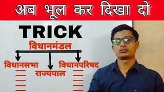 GS TRICK - विधानमंडल Legislature in hindi By - Asad ul haq