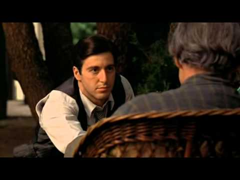 Don Vito and Michael Corleone talk