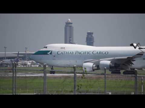 キャセイパシフィックカーゴ/Cathay Pacific Cargo Boeing 747-467F/ER/SCD (B-LIE) 離陸!! from 成田空港 ひこうきの丘