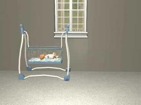 Baby bed youtube - Crib Swing For Sims 2 Youtube