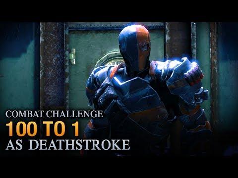 Batman: Arkham Origins - 100 to 1 [as Deathstroke] - Combat Challenge