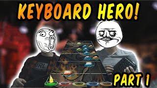 Playing Guitar Hero With Keyboards! - Keyboard Hero Part One