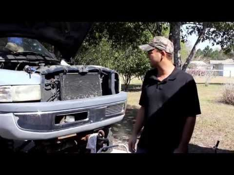 5.9L V8 Dodge Ram Water Pump Removal and Install air chisel method